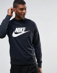Черный свитшот с круглым вырезом и логотипом Nike AW77 728687-010