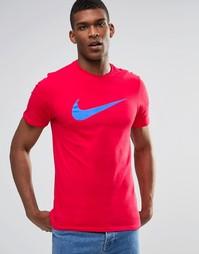 Красная футболка с принтом логотипа Nike 696699-661 - Красный