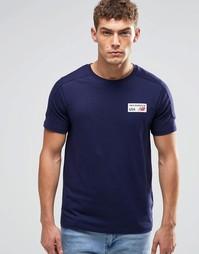 Темно-синяя футболка с логотипом New Balance EMT61743 - Темно-синий