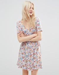 Чайное платье с цветочным принтом ASOS - Мульти