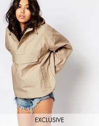 Oversize-куртка через голову Reclaimed Vintage - Песок