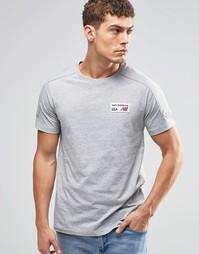 Серая футболка с логотипом New Balance EMT61743 - Серый