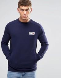 Темно-синий свитшот с логотипом New Balance AEMT53708 - Темно-синий