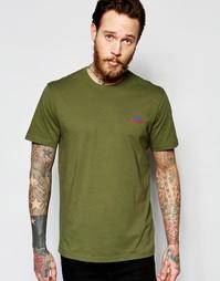Оливковая эксклюзивная футболка с логотипом гор Penfield - Оливковый