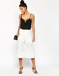 Кружевная юбка-шорты ASOS Premium Occasion - Белый