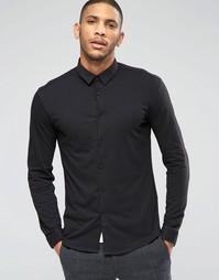Черная трикотажная рубашка слим Lindbergh - Черный