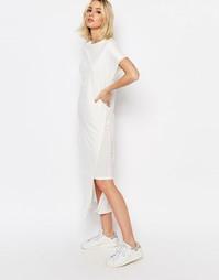 Двухслойное трикотажное платье ADPT - Кремовый