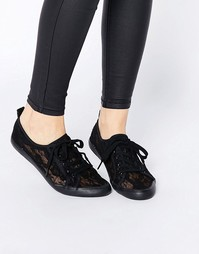 Парусиновые кроссовки на шнуровке ASOS DAGNALL - Черный