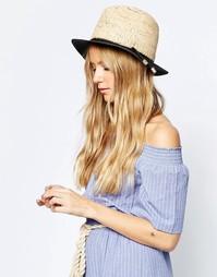 Шляпа в стиле колор блок из 2 фактурных солом ASOS - Мульти