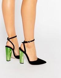 Туфли на высоком каблуке с острым носом ASOS PLAYGROUND - Черный