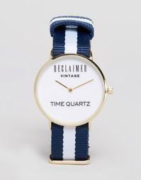 Часы с парусиновым ремешком Reclaimed Vintage - Синий