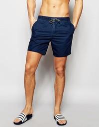 Однотонные пляжные шорты для плавания Hollister - Темно-синий