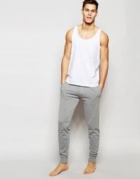 Трикотажные спортивные брюки слим с манжетами Esprit - Серый