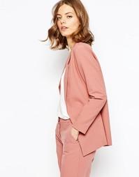 Креповый приталенный жакет слим ASOS - Пудрово-розовый