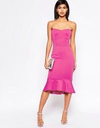 Платье бандо ASOS Pephem - Малиновый