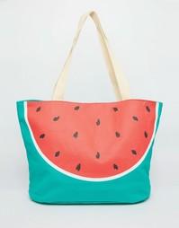 Пляжная сумка с арбузным принтом South Beach - Арбуз