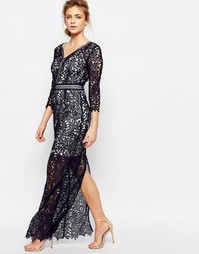 Кружевное платье макси Little Mistress - Темно-синий