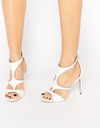Белые кожаные сандалии с вырезами Ted Baker Shyea - Cream box leather