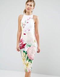 Платье миди с цветочным принтом Ted Baker Julee - Цветочный рисунок