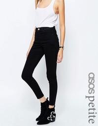 Черные джинсы скинни с завышенной талией ASOS PETITE Ridley