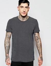 Темно-синяя футболка с принтом Minimum - Navy blazer