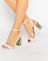 Сандалии на каблуке ASOS HUE - Белый