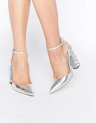 Туфли на высоком каблуке с острым носком и декоративной отделкой ASOS