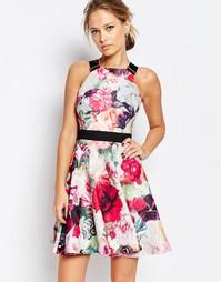 Платье с цветочным принтом и пряжками на бретельках Ted Baker Samra