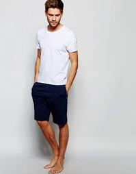 Классические шорты для дома с логотипом Tommy Hilfiger - Темно-синий