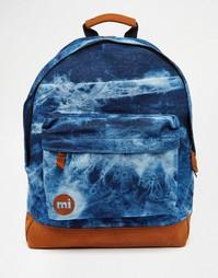 Джинсовый рюкзак с эффектом кислотной стирки Mi-Pac - Синий