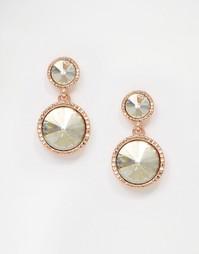 Серьги-подвески цвета розового золота Ted Baker Ronda Rivoli - Crystal