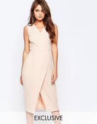 Платье миди с запахом спереди Closet