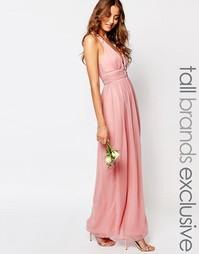 Платье макси с глубоким вырезом и открытой спиной True Decadence Tall