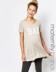 Домашняя футболка для беременных Bluebelle Maternity - Бежевый