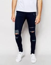 Рваные супероблегающие джинсы с классической талией Waven Jeans Royd