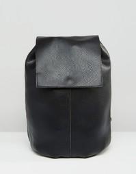 Рюкзак из мягкой ткани без подкладки ASOS - Черный