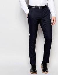 Зауженные строгие брюки в горошек Selected Homme - Темно-синий