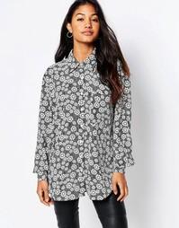 Рубашка Glamorous - Черный с цветочным принтом в стиле 60‑х
