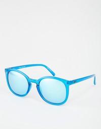 Солнцезащитные очки с круглой оправой и зеркальными стеклами Quay Aust