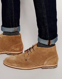 Замшевые ботинки чукка Hudson London Houghton - Рыжий