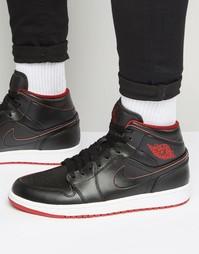 Черные кроссовки средней высоты Nike Air Jordan 1 554724-028 - Белый