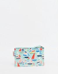 Кошелек на молнии Cath Kidston Small Little Boats - Бледно-синий