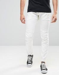 Белые супероблегающие джинсы стретч G-Star Elwood 5620 3D 3D - 3d raw