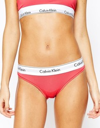 Хлопковые плавки-бикини Calvin Klein - Сбалансированный розовый
