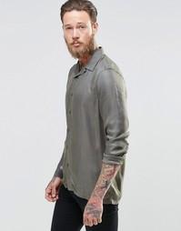 Рубашка хаки классического кроя ASOS - Хаки