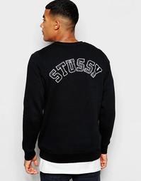 Свитшот с логотипом на спине Ellesse - Черный Stussy