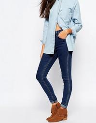 Зауженные джинсы с высокой талией Levi's Line 8 Rebel - Синий