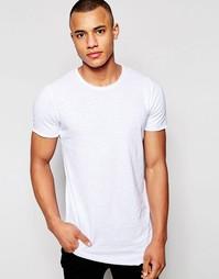 Длинная футболка с ассиметричным краем Jack & Jones - Белый