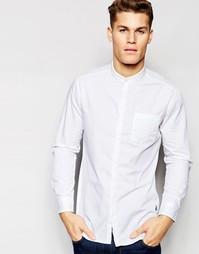 Рубашка зауженного кроя с воротником на пуговице Esprit - Белый