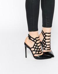Туфли на каблуке с ремешками и острым носком ASOS PASSENGER - Черный
